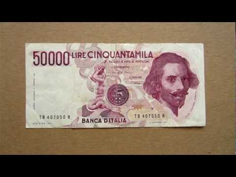 50000 Italian Lire Banknote (Fifty Thousand Italian Lire / 1984), Obverse and Reverse