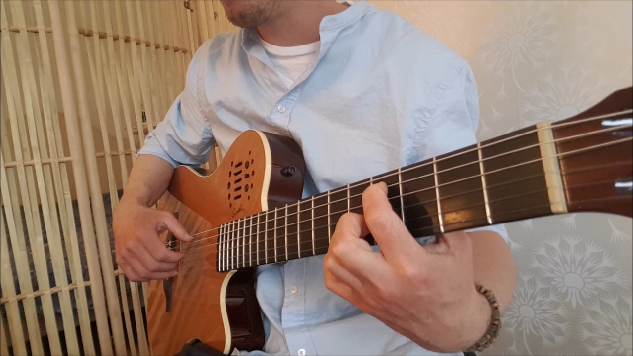 Pans Labyrinth Lullaby Guitar Tabs On A Godin With Synth Access