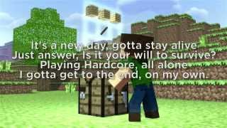 "♪ ""Through The Night"" - A Minecraft Original Music LYRIC Video ♪"