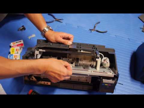 Cleaning inkjet printer printhead manually Epson Stylus D92