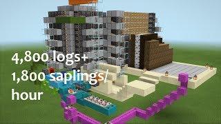 Universal Tree Farm for Minecraft Bedrock Edition