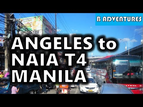 Journey from Angeles City to Manila Airport T4, Philippines S3, Travel Vlog #43