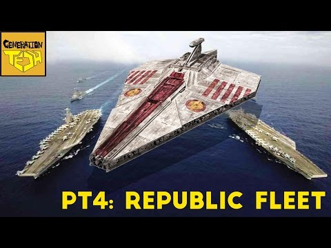 Thumbnail: The REAL SIZE of STAR WARS SHIPS: Pt 4 Republic Fleet
