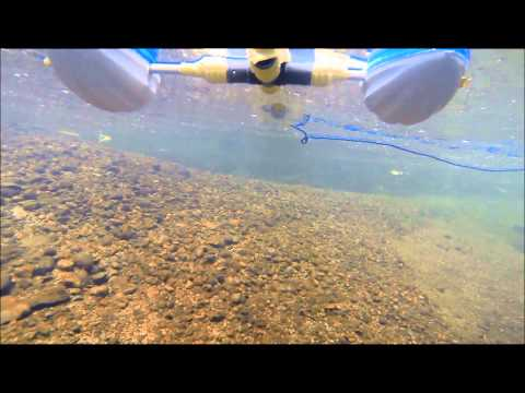 GoPro on a float in Stoney Creek.