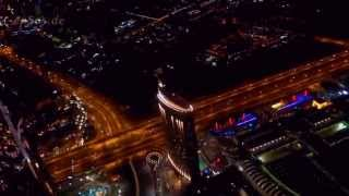 Dubai City Lights from Burj Khalifa