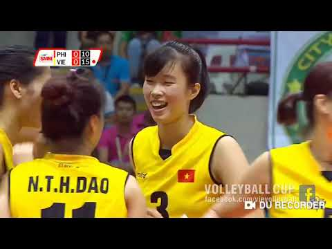 Philippines VS. Vietnam Asian Women Volleyball .Set 1. Feb. 21,2019..