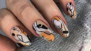 Абстракция на ногтях Популярный дизайн ногтей Простой маникюр 2020 Весенний дизайн ногтей