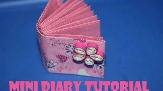 How to make mini diary - Miniature diaries - Simple gift ideas