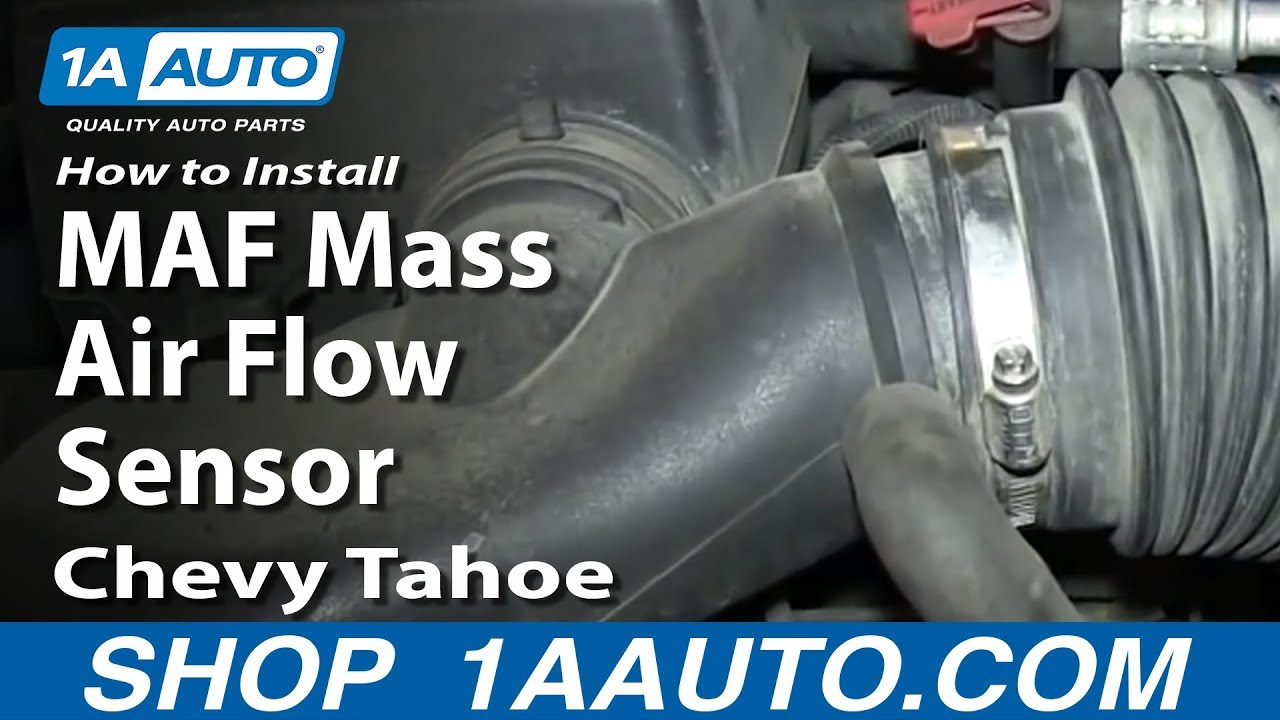 Tahoe 96 chevy tahoe parts : How To Install Replace MAF Mass Air Flow Sensor 5.7L 1996-99 Chevy ...