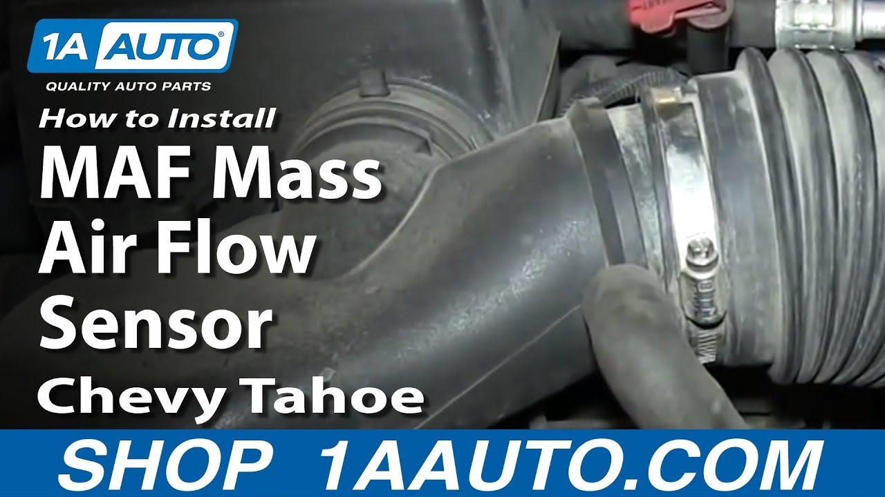 How To Install Replace Maf Mass Air Flow Sensor 57l 1996 99 Chevy Tahoe Suburban 1998 Cheyenne V6 Vortec Engine Diagram