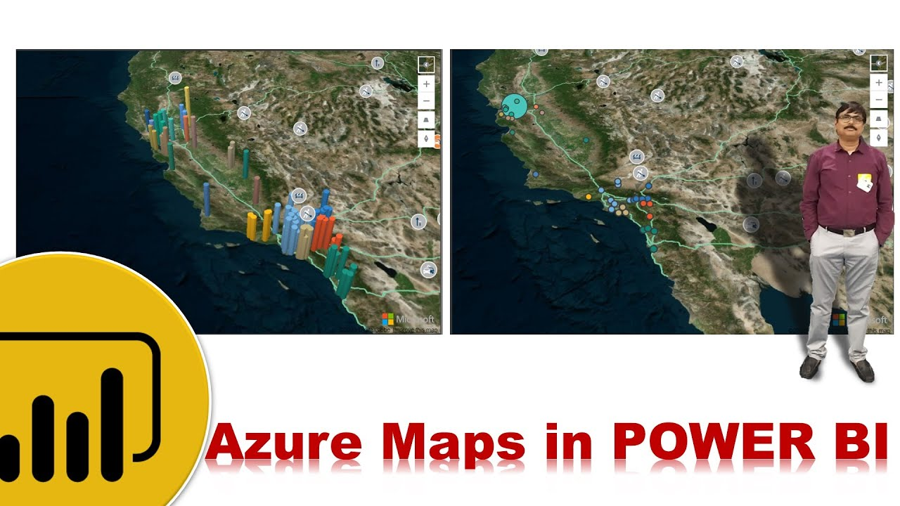 Power BI -  Azure Maps - How to get Longitude and Latitude from Excel
