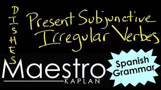 PRESENT SUBJUNCTIVE: Irregular verbs  (DISHES, car, gar, zar)