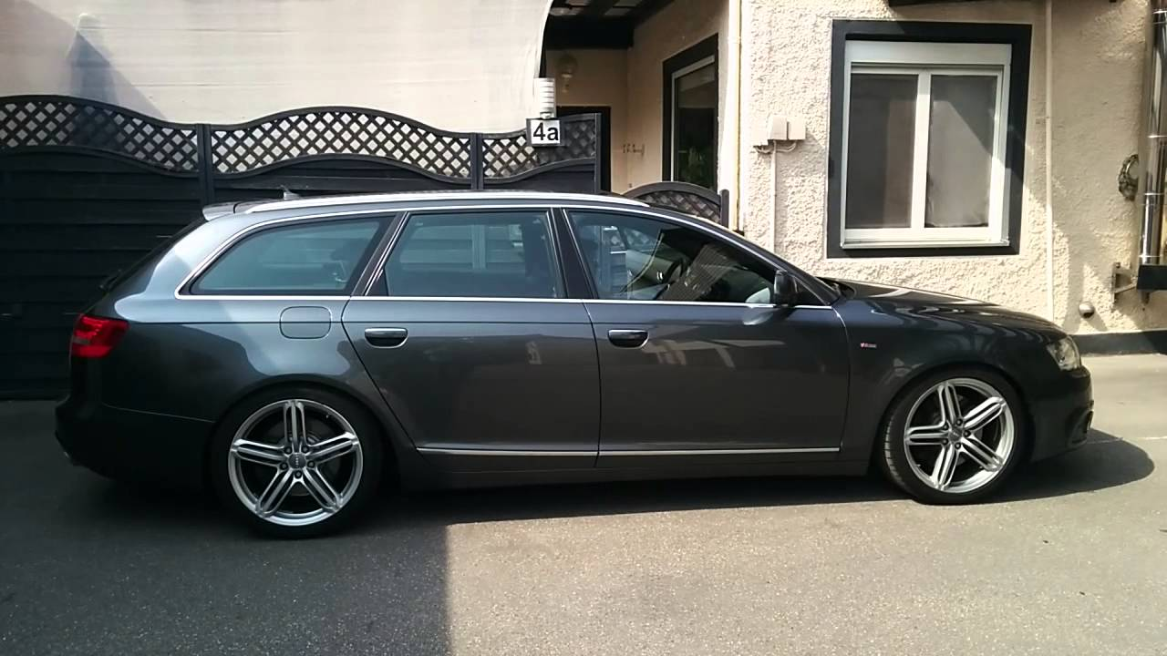 Audi a6 4f 3 0tdi fl aas luftfahrwerk adaptive air youtube for Audi a6 4f interieur