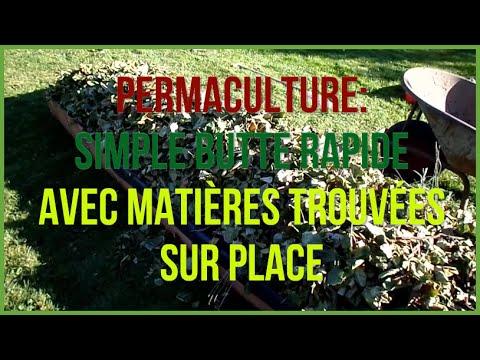 Butte de permaculture vite réalisee avec matériaux trouvés sur place