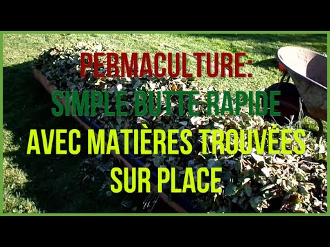 butte de permaculture vite r alisee avec mat riaux trouv s sur place youtube. Black Bedroom Furniture Sets. Home Design Ideas