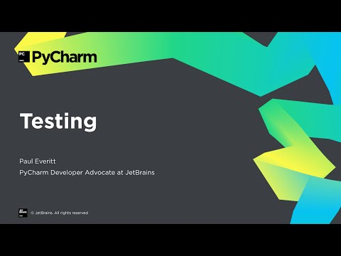 Getting Started With PyCharm 7/8: Testing