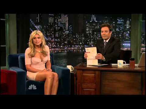 Aly Michalka on Late Night with Jimmy Fallon in New York