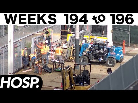 Collection of construction time-lapses from Weeks 194-196, hospital edition