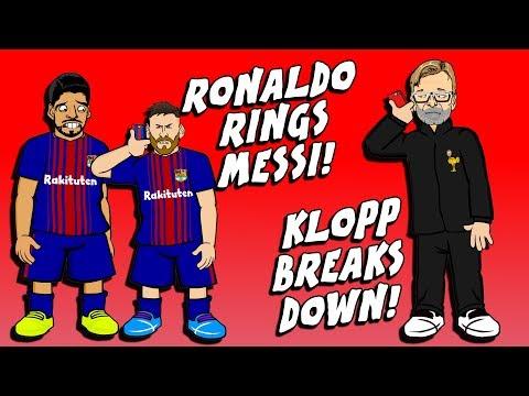 📱RONALDO RINGS MESSI📱😢 KLOPP BREAKS DOWN😢 Man City vs Tottenham Training! (Parody)