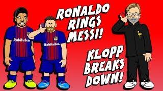 ronaldo rings messi klopp breaks down man city vs tottenham training parody