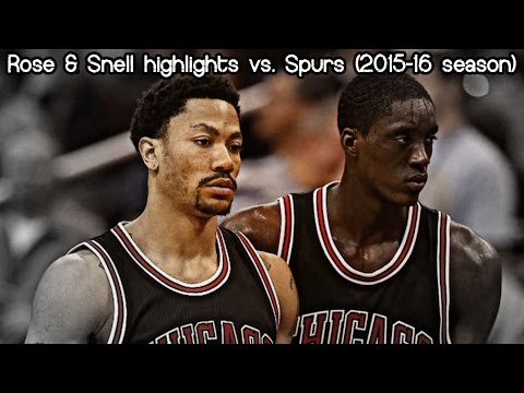 Derrick Rose & Tony Snell 22 pts & 7 ast combined vs. Spurs (NBA RS 2015/2016) - 30.11.2015