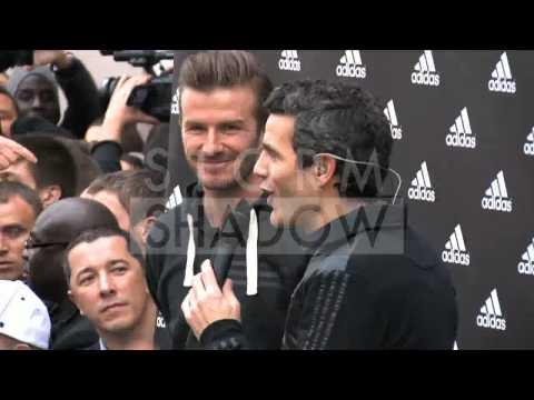 David Beckham Adidas Store Presentation Paris
