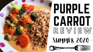 i finally tried purple carrot! vegan meal kit review / june 2020 💜🥕
