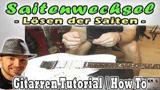 ★Saiten lösen und wechseln an einer (Floyd Rose Tremolo) E-Gitarre | How to Tutorial Tipps Workshop