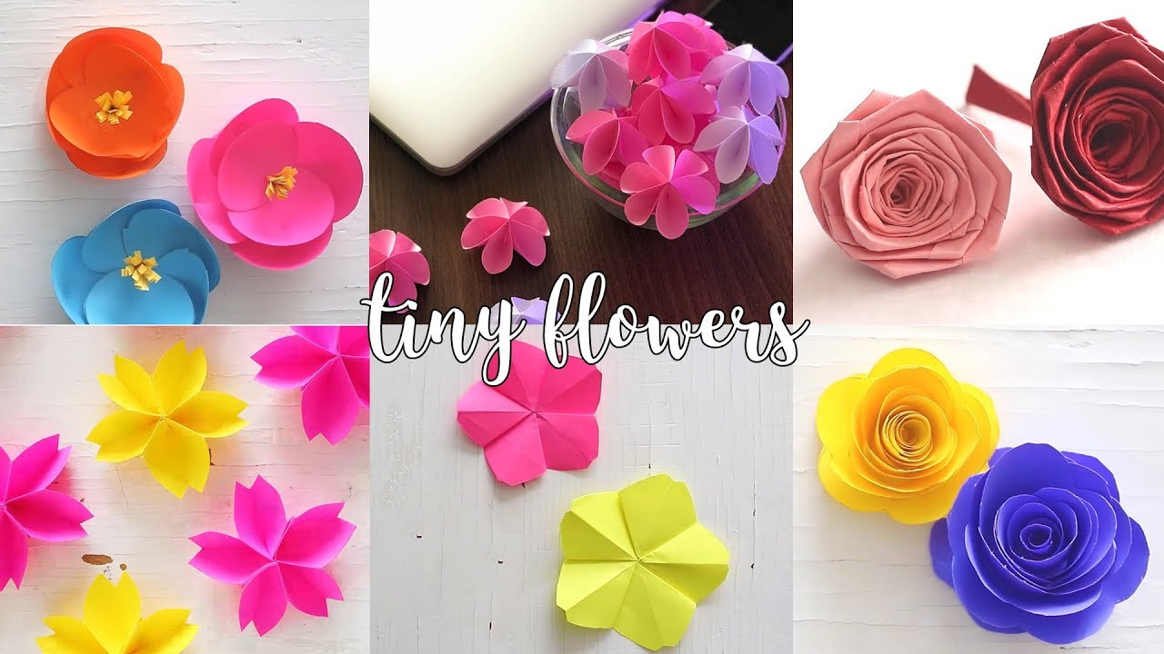 6 tiny paper flowers paper crafts compilation youtube 6 tiny paper flowers paper crafts compilation mightylinksfo