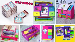 Best Out Of Waste Matchbox Craft /6 DIY Reuse Idea / Matchbox Organizers AND PENCIL CASES