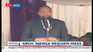 The church and the state must be interdependent- President Uhuru at Archbishop Njenga\'s mass funeral