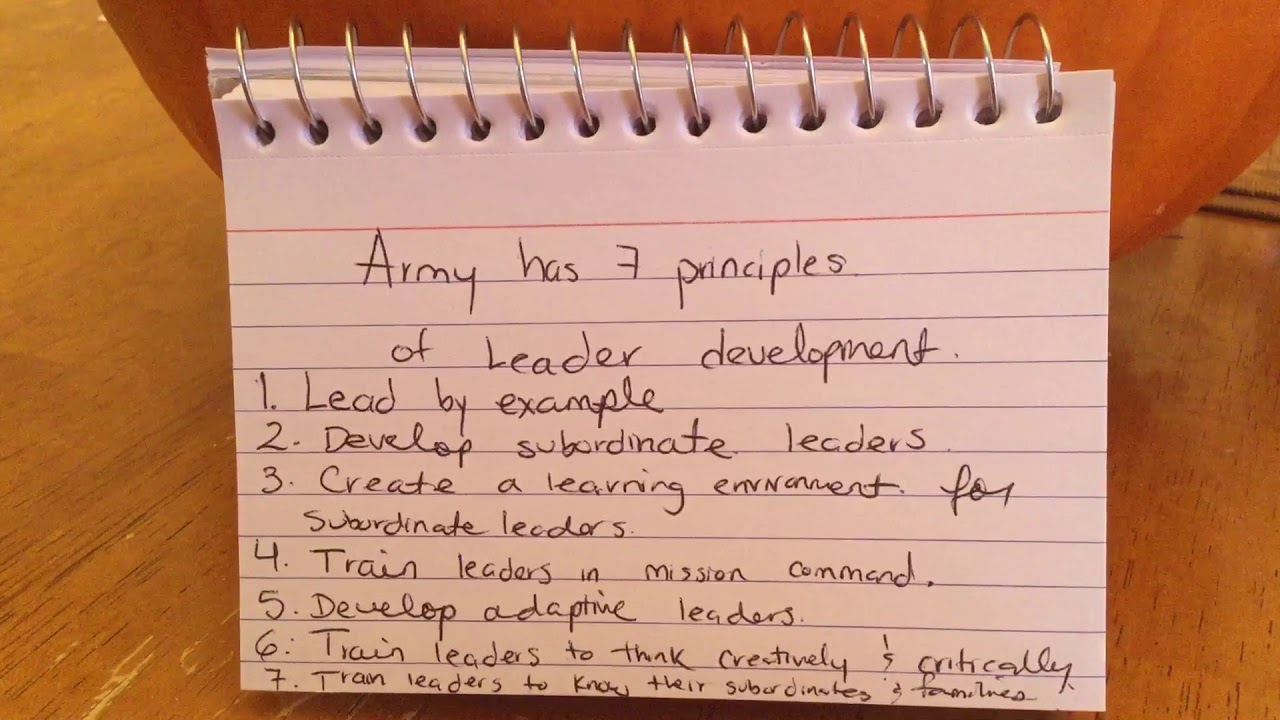 US Army 7 Principles of Leader development.