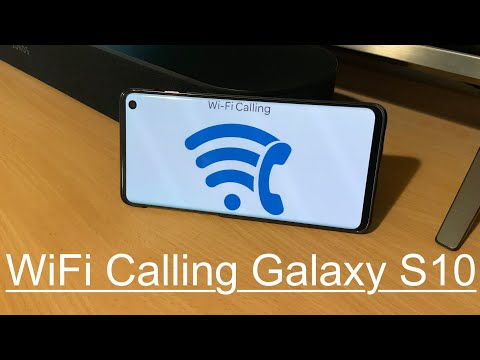 How to set up WiFi calling: Galaxy S10 - YouTube