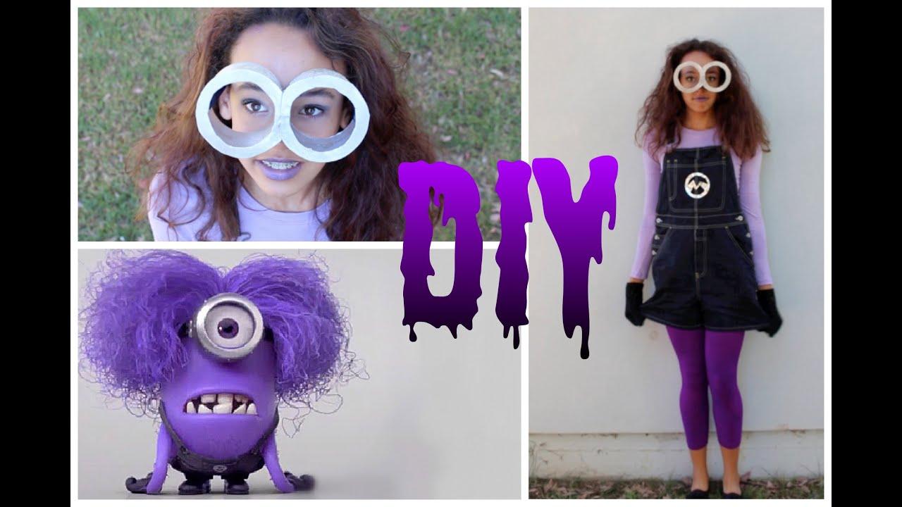 & DIY Purple Minion Costume +Makeup u0026 Hair! -HowToByJordan - YouTube