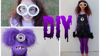 DIY Purple Minion Costume +Makeup & Hair! -HowToByJordan