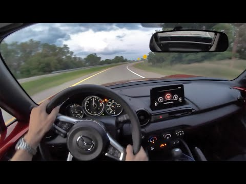 2019 Mazda MX-5 Miata RF Club - POV Sunset Drive (Binaural Audio)