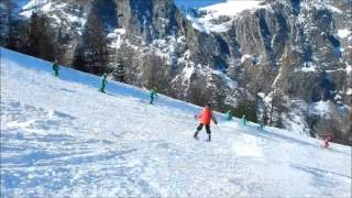 Skiing in Courmayeur Italy alps mont blanc February 2015