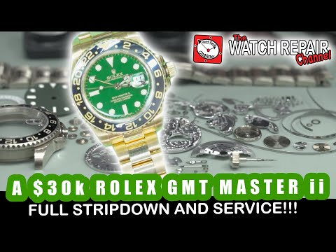 A $30k 18ct Gold Rolex GMT Master Ii - Full Teardown And Service