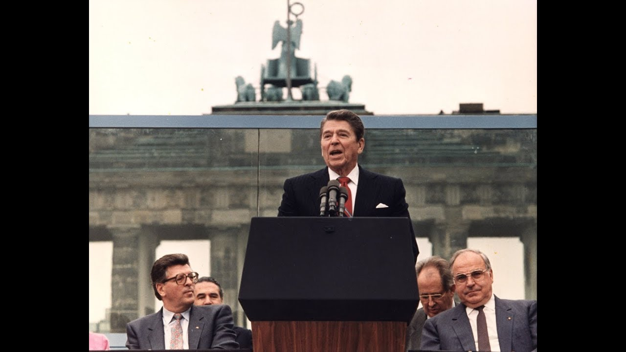 President Reagan's Berlin Wall Speech - June 12, 1987 - YouTube