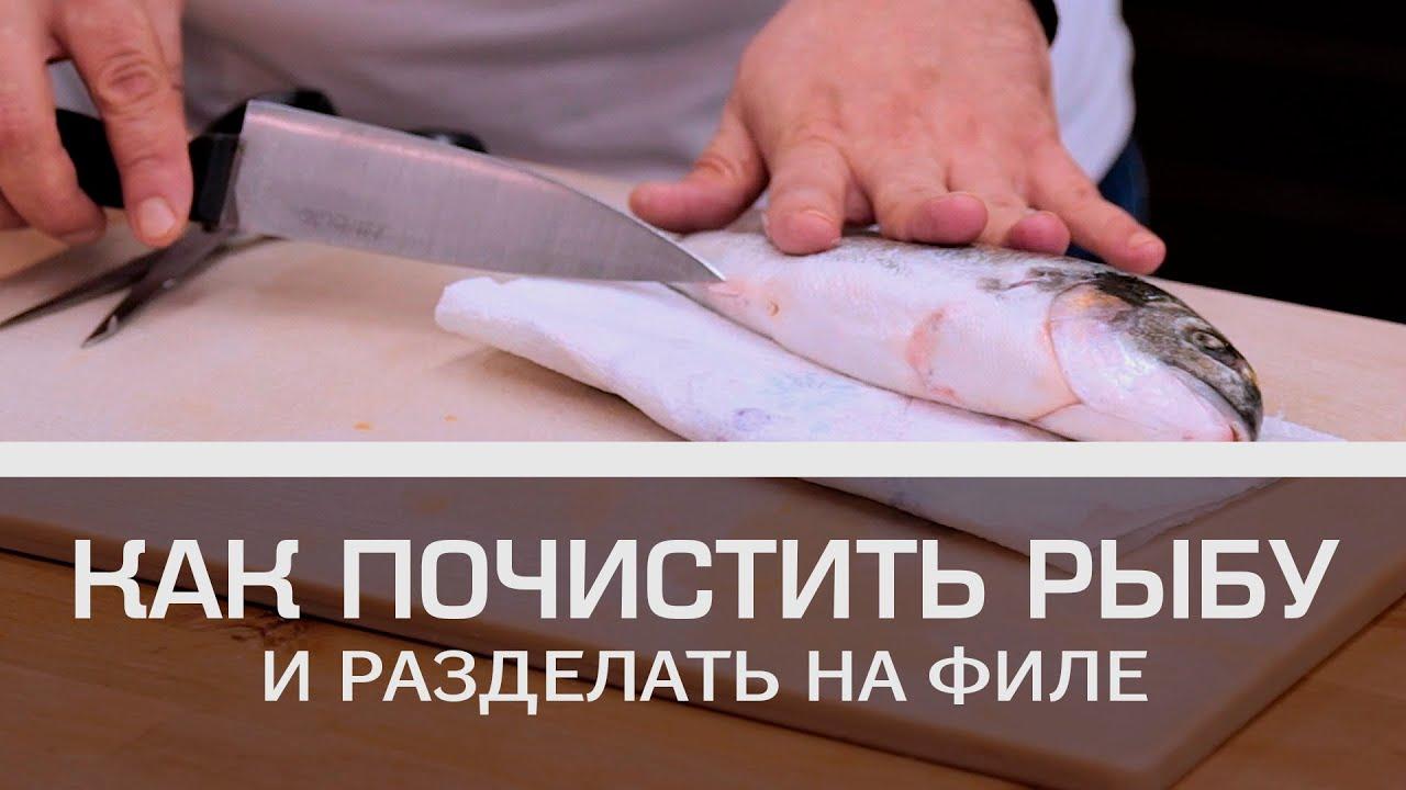 Как почистить рыбу и разделать на филе [Мужская кулинария]
