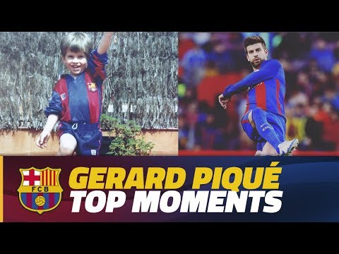 COMPILATION: Piqué top moments during Barça Youth Academy