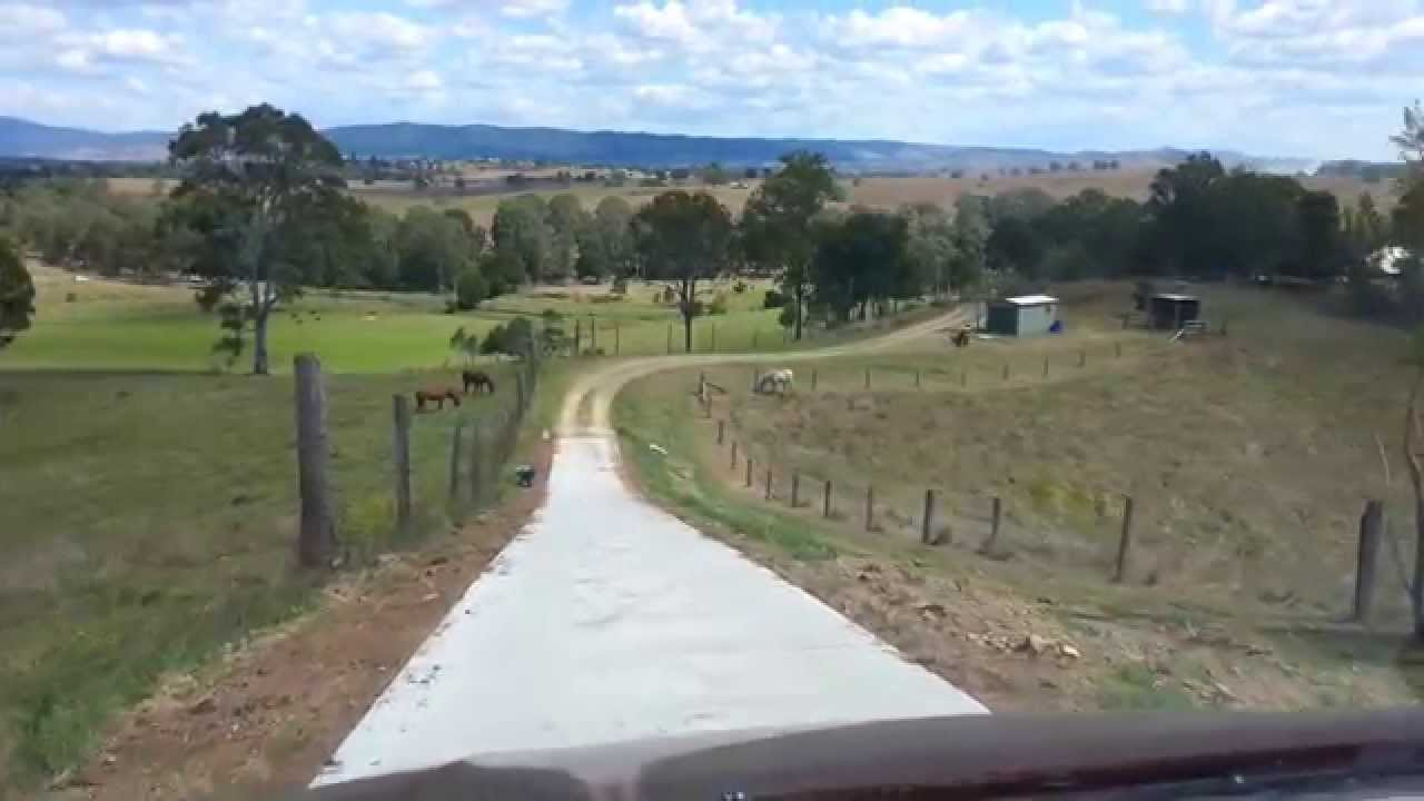 Driving Down New Driveway On A Steep Hill In Kilcoy