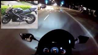 2009 Kawasaki 250r Ninja - Night Ride + My Motorcycle Upgrades Story