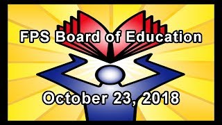 School Board Meeting - October 23, 2018