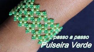 NM Bijoux – Pulseira Verde de Pérolas
