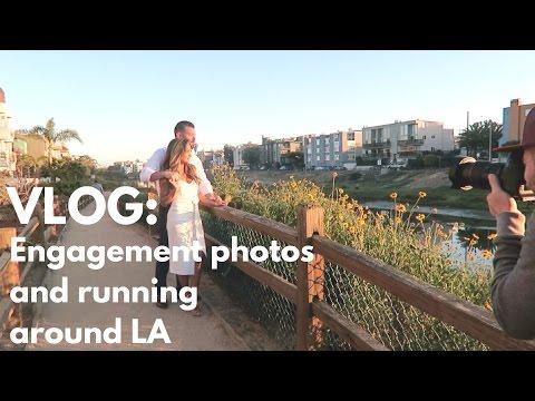 Vlog: Engagement Photos and Running Around LA