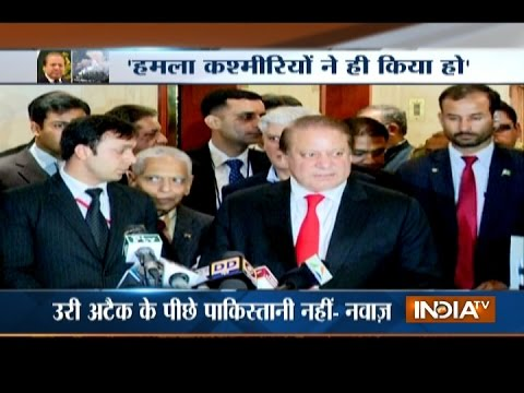 Nawaz Sharif Rejects Any Link of Pakistan Behind Terror Attack in Uri