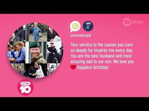 Royal News: Meghan's Sweet Birthday Tribute For Prince Harry   Studio 10
