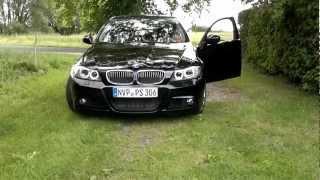 H8 Brenner für BMW mit 4x 5W Cree LED, Raute, Angel Eyes 1er, 3er, Montage u. Ergebnis