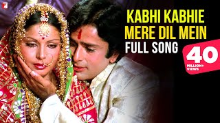 Kabhi Kabhie Mere Dil Mein (Female) - Full Song | Kabhi Kabhie | Shashi, Rakhee, Lata